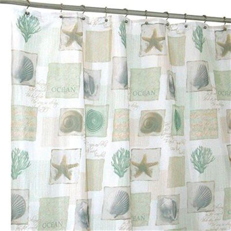seashore themed shower curtains famous home fashions seaside shower curtain meijer