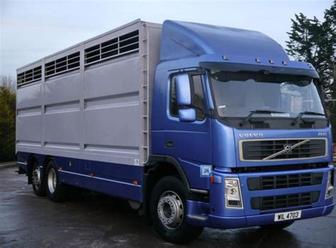 volvo lorry for sale 2004 volvo fm9 6x2 26ft single cattle lorry truck for sale
