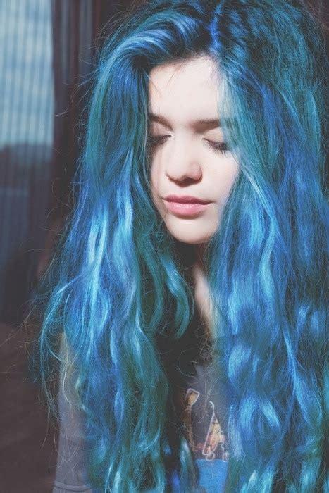 hairstyles color tumblr hair blue tumblr