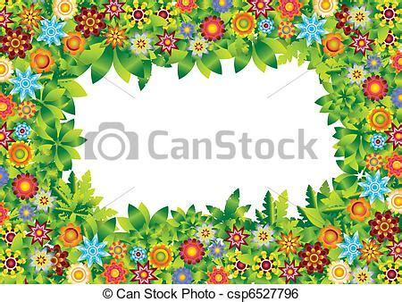 clip art vector  flowers garden frame vector