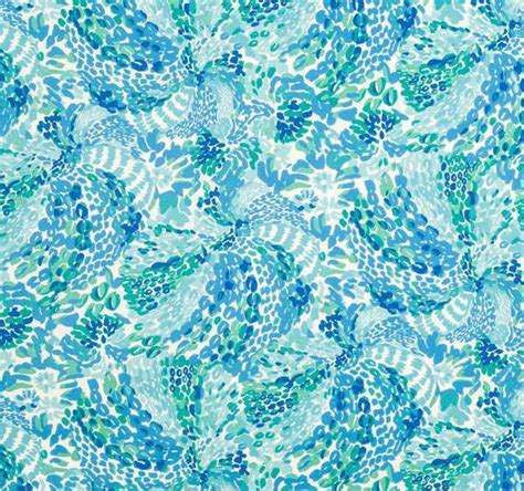 Lilly Pulitzer Upholstery Fabric by Jofa Searchin Urchin Shorely Blue 2016102 513 Resort