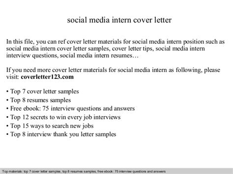 cover letter for social work internship social media intern cover letter