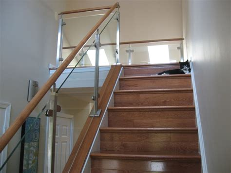 glass banister rails glass stair railing contemporary elegant glass stair