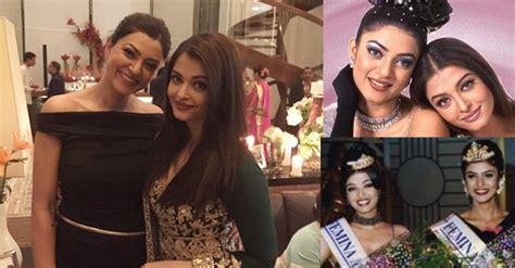 sushmita sen and aishwarya rai aishwarya rai bachchan sushmita sen pose together