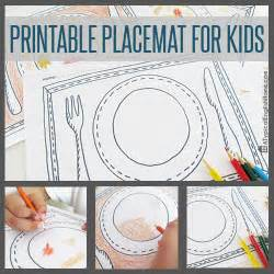 printable for toddlers a typical home printable placemats for to color