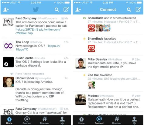 twitter iphone layout twitter for ios 7 released with new design icon on iphone