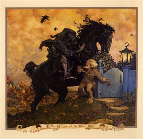 the black painting a novel books stephen hickman tolkien s black rider