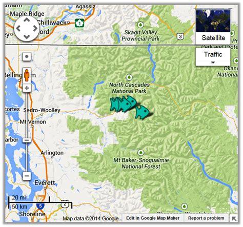 skagit river fishing map cascade river fishing access maps fishing reports