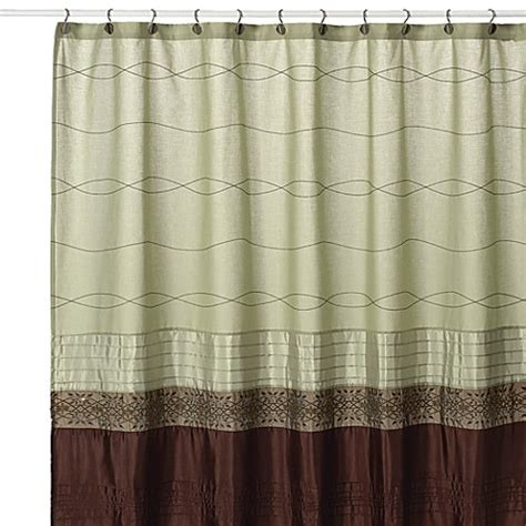 brown and green shower curtains buy kas romana 54 inch w x 78 inch l fabric stall shower