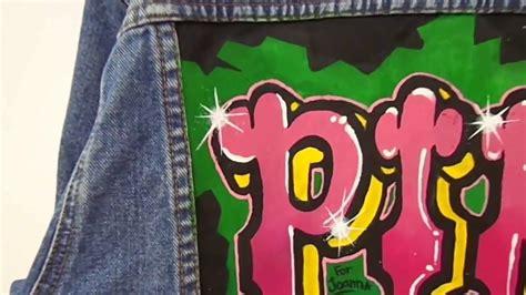 lady pink graffiti jackets jaquetas graffitadas