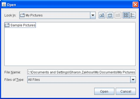 java swing modal dialog how to use file choosers the java tutorials gt creating a