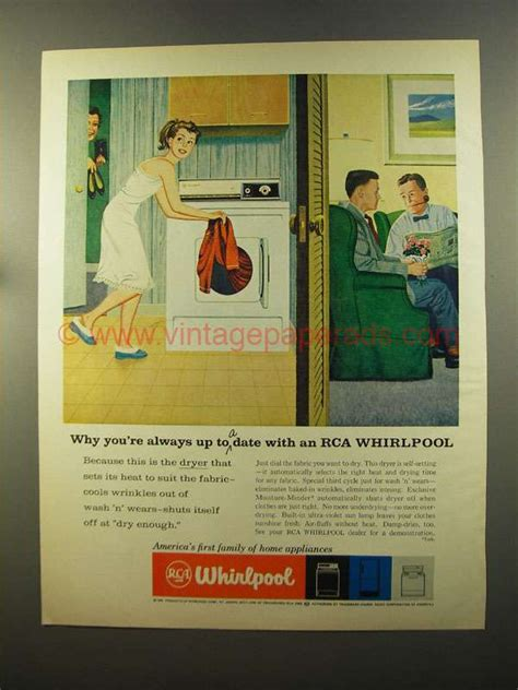 Soft Whirlpool 1959 1959 rca whirlpool dryer ad up to a date