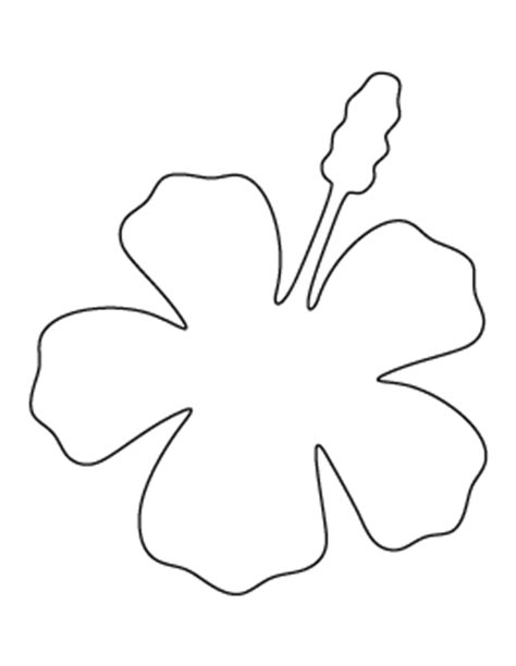 Free Flower Patterns For Crafts Stencils And More Hawaiian Flower Template