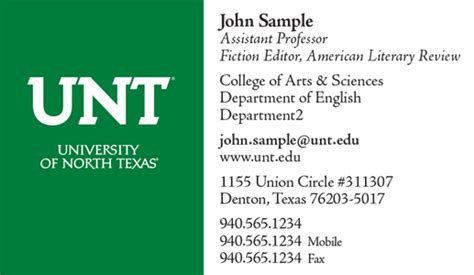 Business Card Template Two Addresses by Stationery Unt Identity Guide