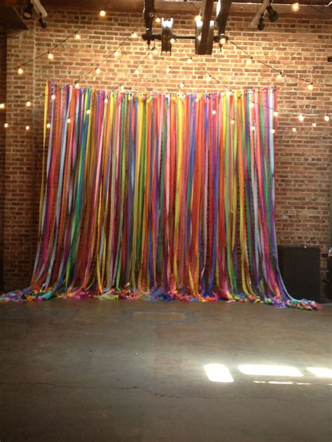 wall curtains for parties best 25 ribbon wall ideas on pinterest photo booth wall