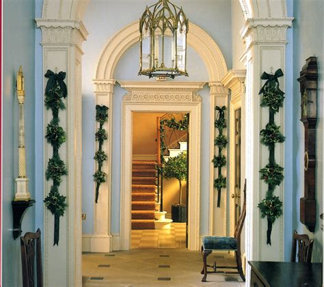 how to decorate indoor column for xmas austen and decorating the georgian home austenonly