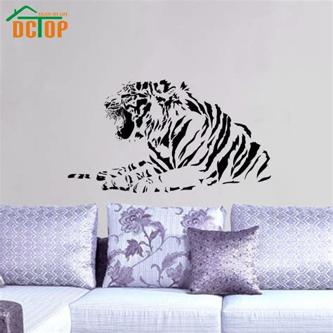 wall stickers wholesale wholesale high quality growling tiger wall stickers bedroom decorative animal vinyl removable