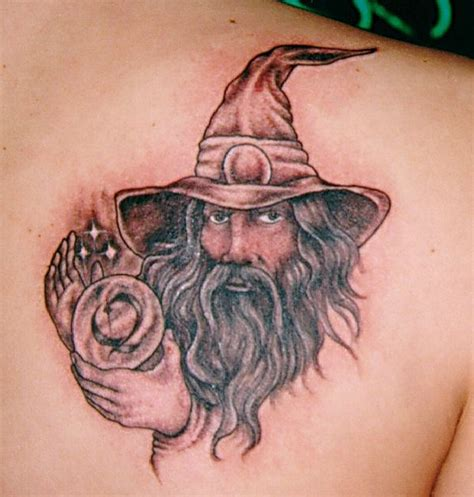 magician tattoo wizard pictures
