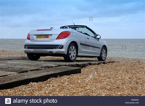 peugeot open top cars folding roof stock photos folding roof stock images alamy