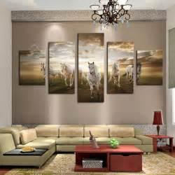 Cheap Modern Home Decor Unframed 5 Pcs High Quality Cheap Art Pictures Running