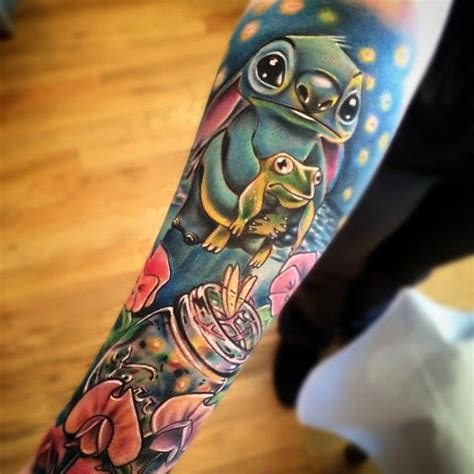 3d johnny tattoo disney sleeve tattoo by johnny smith art lilo and stitch