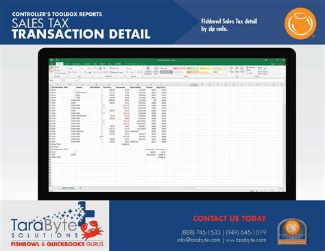 sle of accounting report fishbowl accounting controller s toolbox tarabyte