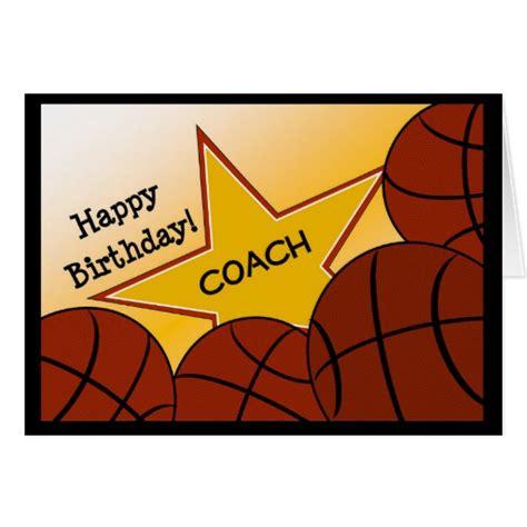 imagenes de happy birthday basketball coach happy birthday basketball coach card zazzle