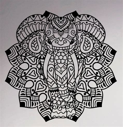 aliexpress com buy indian elephant mandala vinyl decal