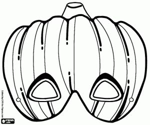 ausmalbilder halloween masken malvorlagen