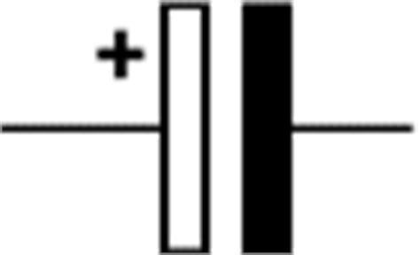 capacitor polarised symbol electronics club capacitors electrolytic polarised unpolarised trimmers