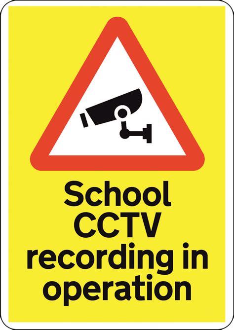 cctv recording cctv school recording in operation signs2schools
