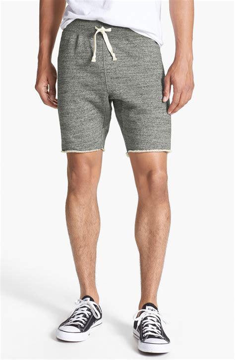 cotton knit shorts todd snyder x chion gray knit cotton shorts for