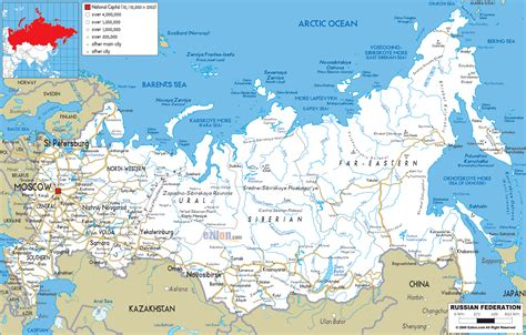 russia map showing cities large detailed road map of russia with all cities and