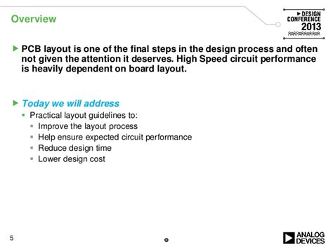 high speed layout design guidelines high speed and rf design considerations ve2013