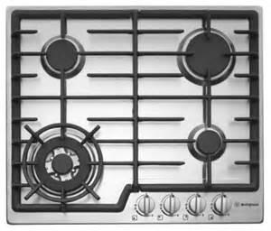 westinghouse cm  burner gas cooktop  flame failure
