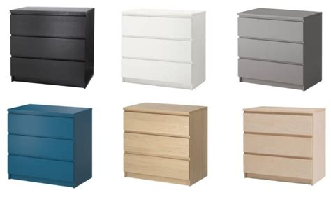 Ikea Malm | ikea malm 3 drawer chest different colors ebay