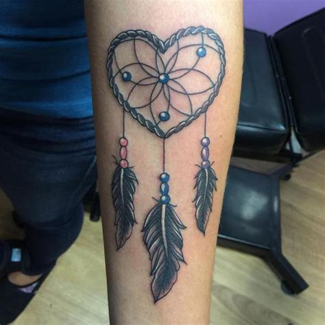 heart dreamcatcher tattoo shaped dreamcatcher tattoos creativefan