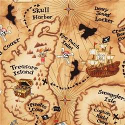 Vanity Bed Bath Beyond Light Brown Pirate Treasure Map Fabric By Timeless