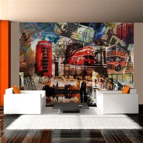 Ordinaire Decoration Chambre Theme Londres #1: .papier_peint_london_pas_cher_original_facile_a_poser_deco_murale_tendance_salon_chambre_studio_londres_monuments_colores_papier_intisse_british_m.jpg