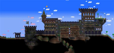 Awesome House Blueprints by Terraria Castle By Naughty Uk On Deviantart