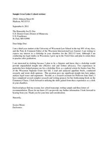 sample judicial clerkship cover letter the letter sample