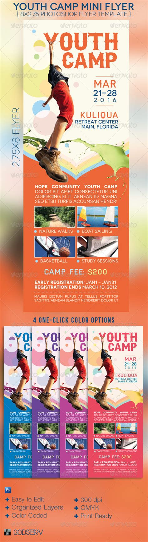 Youth C Mini Flyer Template By Godserv Graphicriver Youth Flyer Template Free