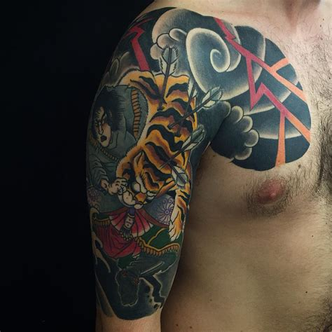 cool japanese tattoos hunt tiger japanese best ideas gallery