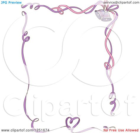 Wedding Bell Designs by Clipart Of A Pink And Purple Ribbon Border With Wedding