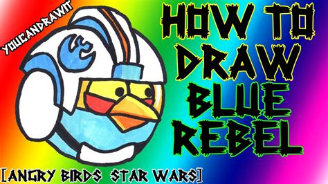 angry birds wars doodle activity annual 2013 how to draw blue rebel pilot bird from angry birds