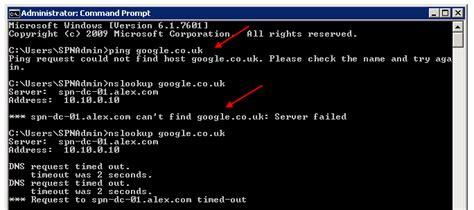 windows server   sp dns stops resolving names