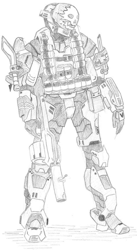 Halo 6 Coloring Pages by Halo Noble 6 Free Coloring Pages