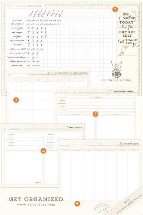 Photography Worksheets by Get Organized January S Free Photo Studio