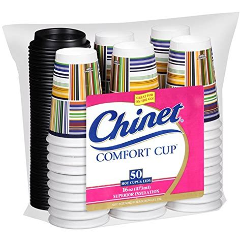 Chinet Comfort Cups by Chinet Comfort Cup 16 Ounce Cups 50 Count Cups Lids