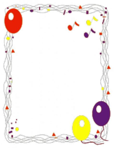 balloon border template free balloon border vector free